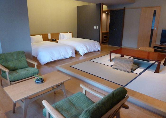 Mountain view room, Kuroyado Iroha ryokan, Miyajima Island