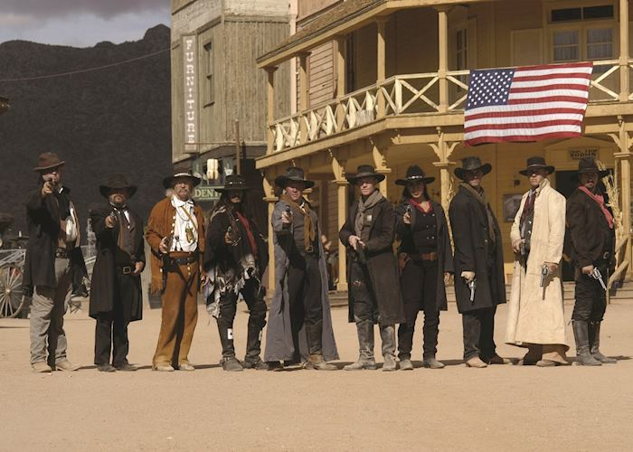 Gunfighters on a Tucson cowboy film set