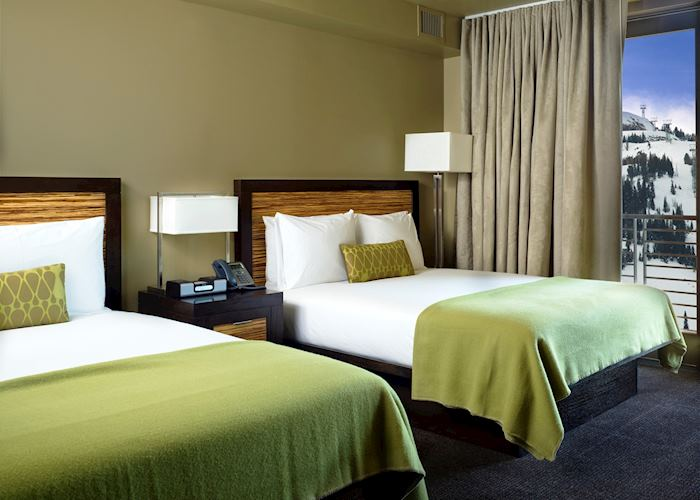 Guest room at the Hotel Terra, Teton Village