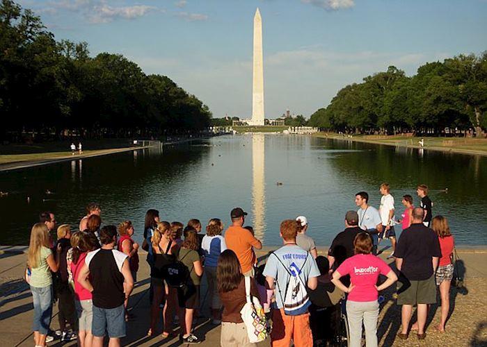 Enjoying a walking tour of Washington, D.C.