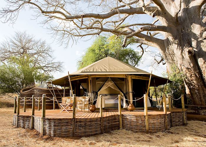 Luxury tent, Swala Camp, Tarangire National Park