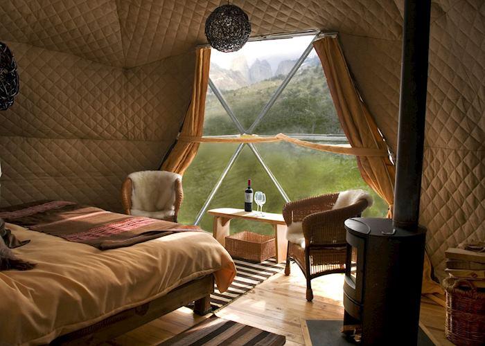 Suite dome tent, Eco Camp, Torres del Paine National Park
