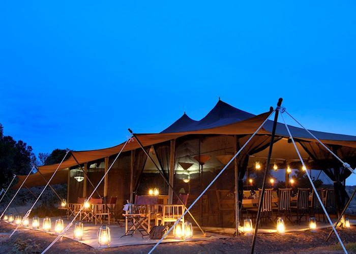 Mess tent and lounge, Porini Lion Camp, Masai Mara