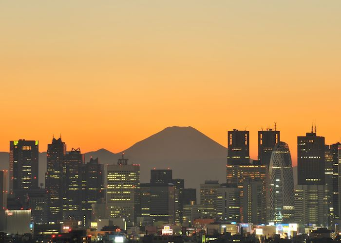 Tokyo sunset with Mt Fuji