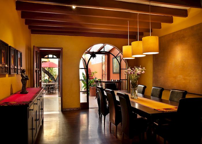 Dining Room, Red Tree House, Mexico City