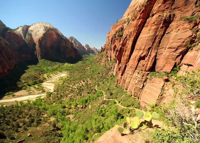 Zion Canyon and Angels Landing Trail, Zion National Park