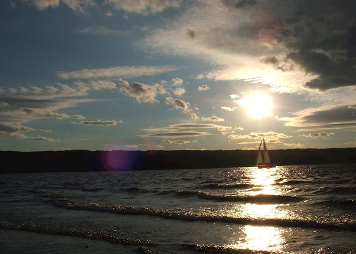 Sailing on Cayuga Lake near Ithaca