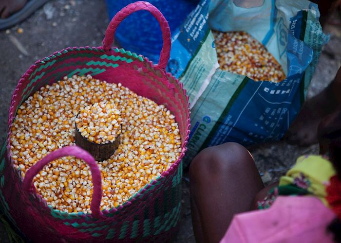 Selling corn at the market, Ifotaka Community Forest, Madagascar