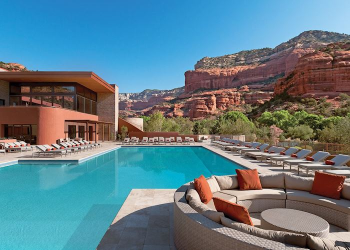 The swimming pool at Enchantment Resort, Sedona