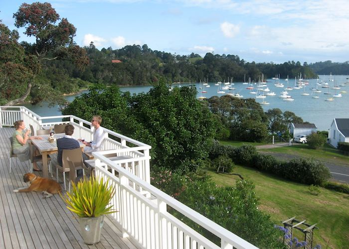 View from the verandah, Arcadia Lodge, Russell & The Bay of Islands