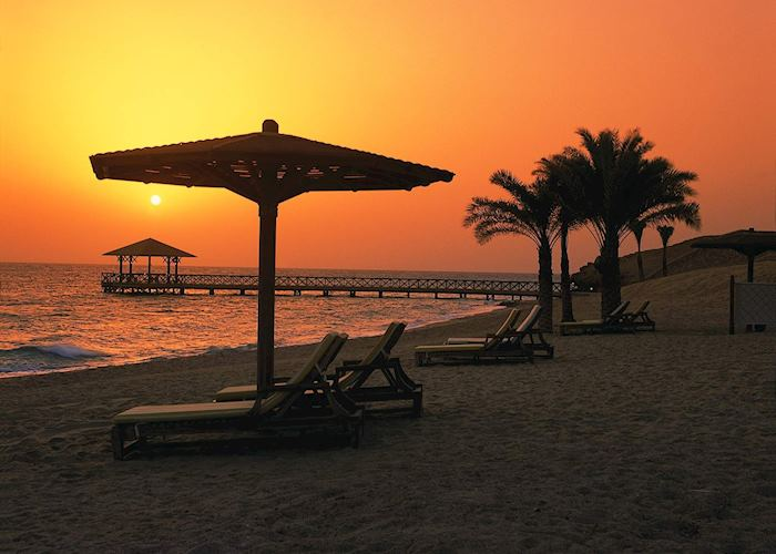 Sunrise at the Oberoi Sahl Hasheesh, Hurghada