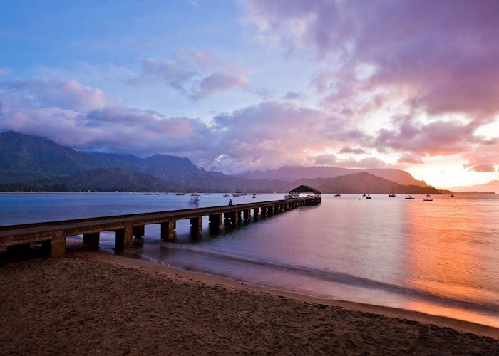 Hanalei Pier in Kaua'i