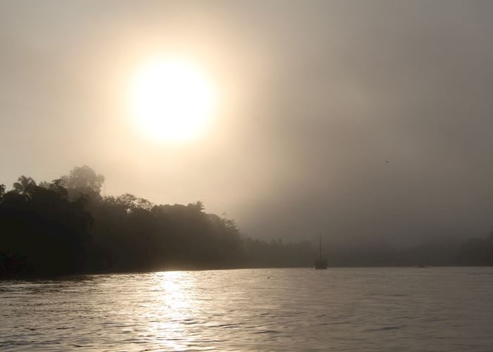 Sunrise on the Kinabatangan River, Malaysian Borneo