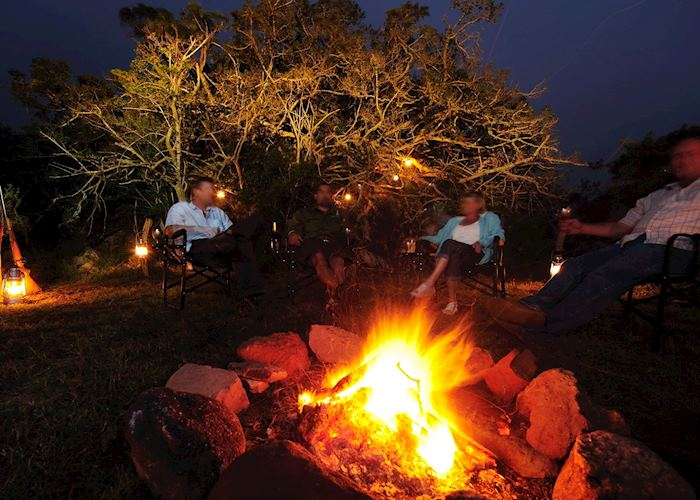 Stories around the campfire, Sanbona Explorer Camp