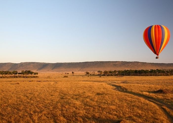 Hot air ballooning over the Masai Mara