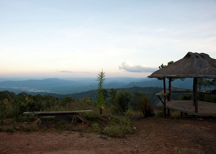 Viewing point at Mountain Oasis Resort, Mindat, Burma (Myanmar)