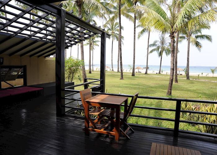 View from a Royal Bengal Villa, Bay of Bengal Resort, Ngwe Saung, Burma (Myanmar)