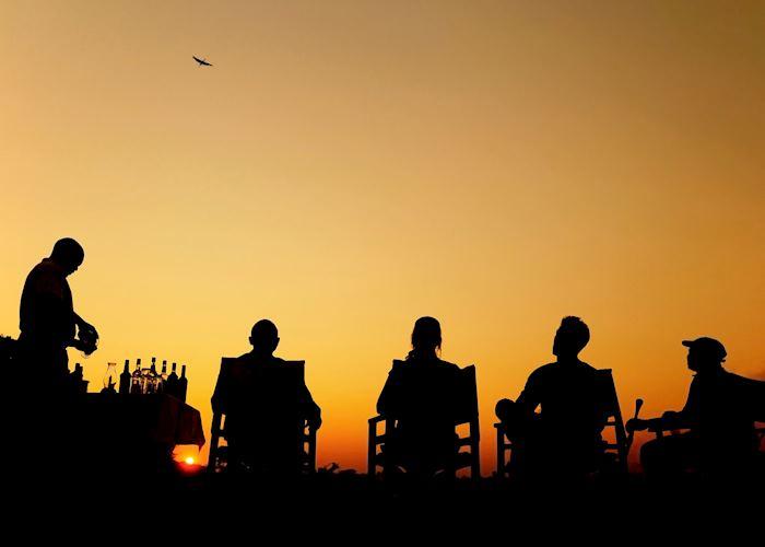 Sundowners at Luwi Bushcamp, South Luangwa National Park