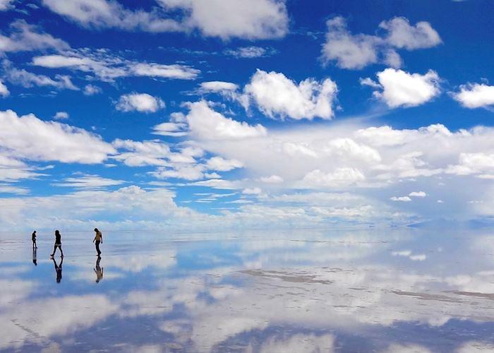 Reflections on the Salar de Uyuni, Bolivia