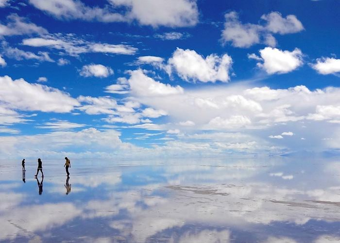 Reflections on the Salar de Uyuni, Bolivia