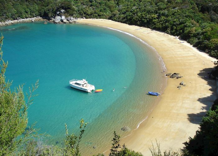 A secluded beach near Abel Tasman National Park