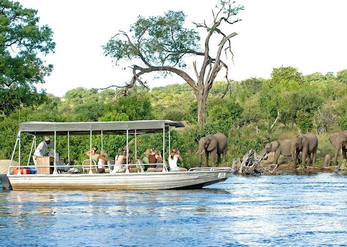 Boat safari from Chobe Chilwero