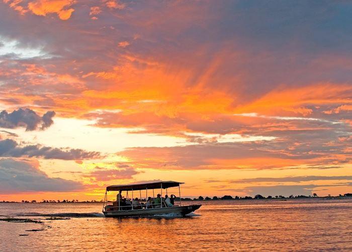 Sunset boat trip from Chobe Chilwero