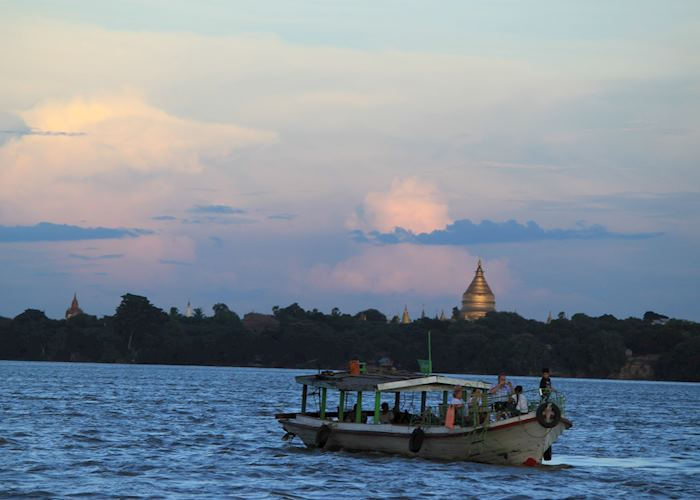 Sunset Cruise on the Ayeyarwady, Bagan, Burma (Myanmar)