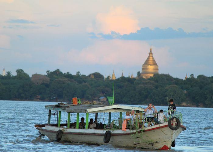 Sunset on the Ayeyarwady, Bagan, Burma (Myanmar)