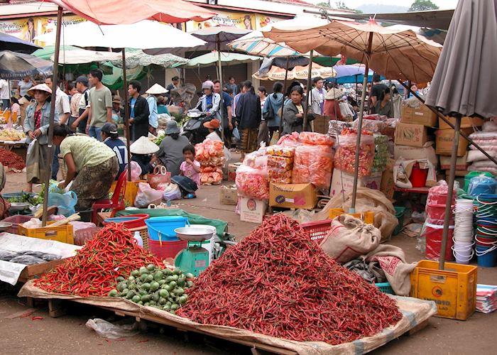 Pakse market, Laos