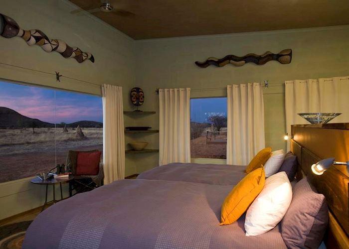 Standard room, Okonjima Plains Camp, Central Highlands