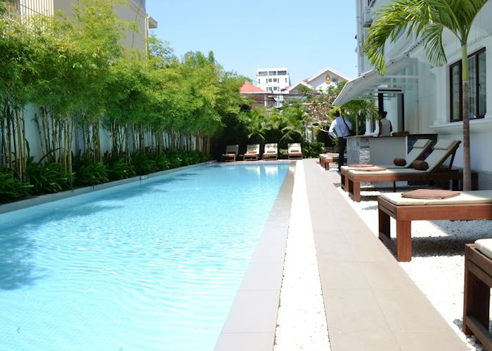 White Mansion Hotel pool,Phnom Penh