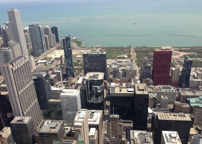 Lake Michigan and Millenium Park, Chicago