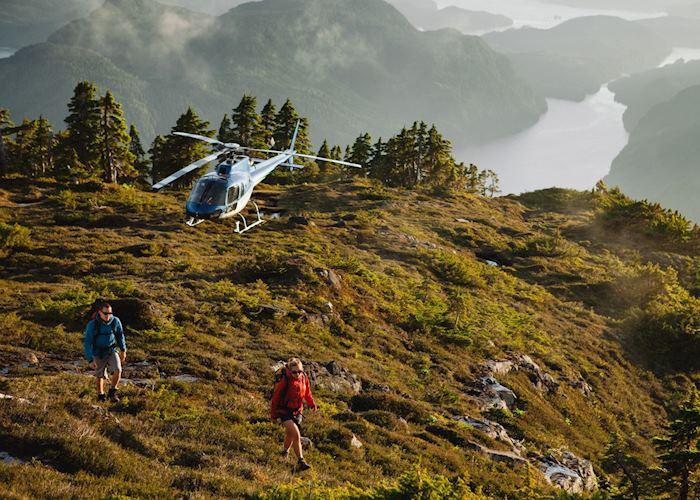 Heli-hiking at Nimmo Bay Wilderness Resort