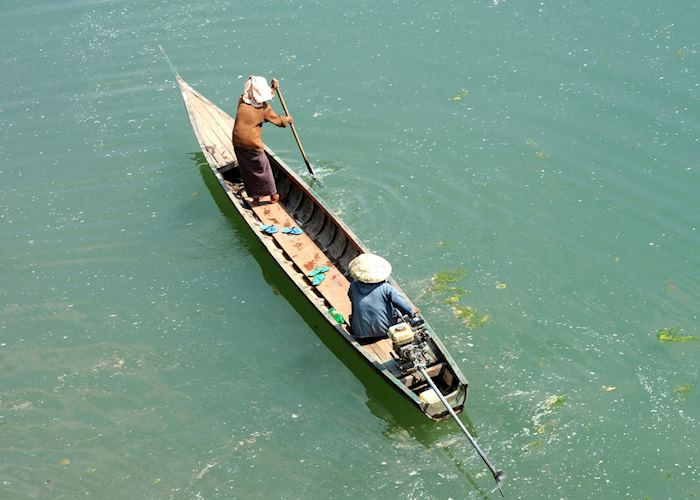 Long tail boats are the best way of navigating the waterways in Laos