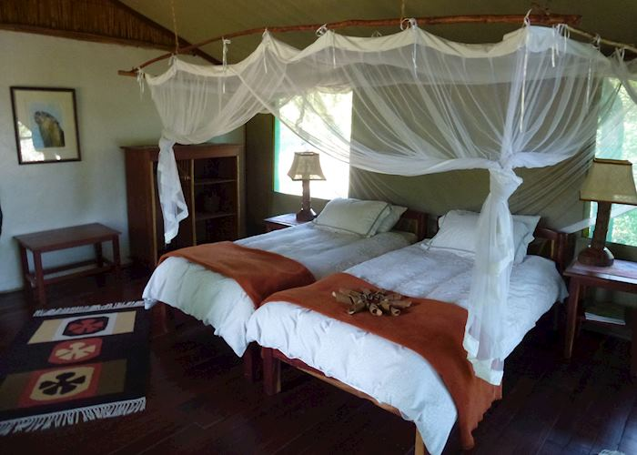 Tented chalet, Kaingu Safari Lodge, Kafue National Park