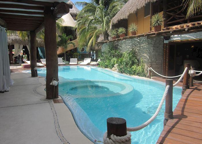 Pool area, Casa Las Tortugas, Isla Holbox