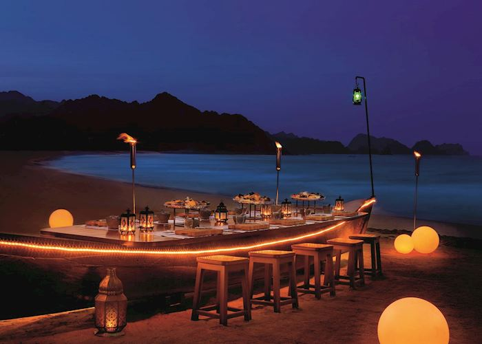 Crab Shack on the beachAl Bustan Palace, Muscat
