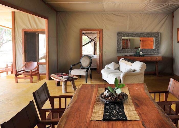 Family Tent Living Area, Potato Bush Camp, Lower Zambezi National Park