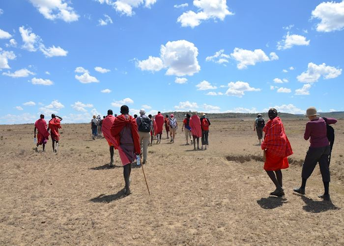 Walking with the Maasai warriors, Me to We Kenya