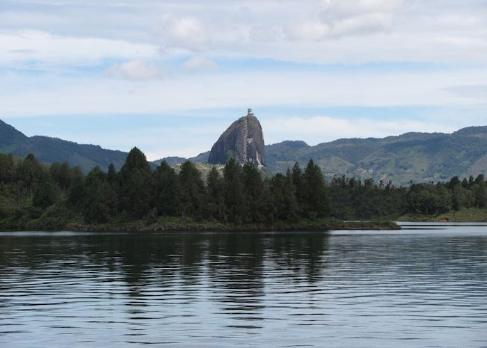 El Peñol from the lake