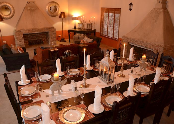 Dining Room & Lounge, Camelthorn Lodge, Hwange National Park