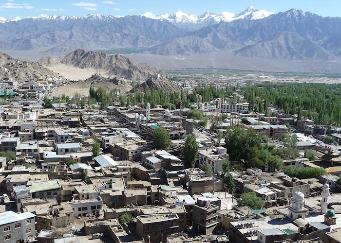 View of Leh from Leh Palace