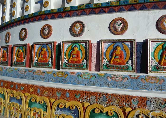 Buddha images on the Shanti Stupa