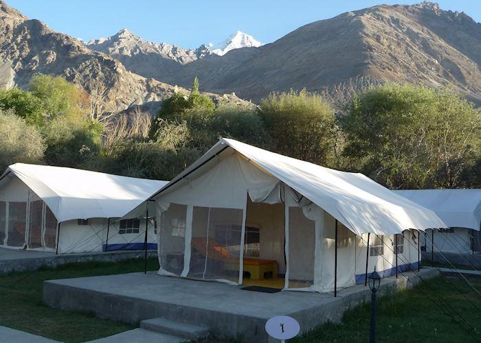Deluxe tent at Desert Himalaya, Nubra Valley