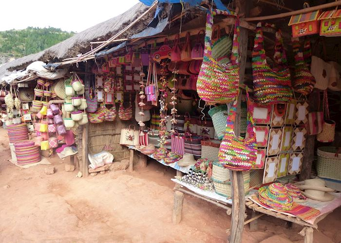 Market stalls in Antsirabe, Madagascar