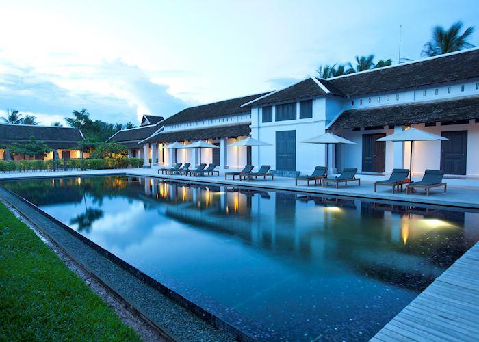 Swimming Pool at dusk, Sofitel, Luang Prabang