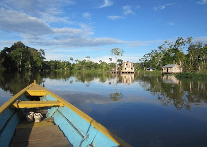 Boating on the Peruvian Amazon