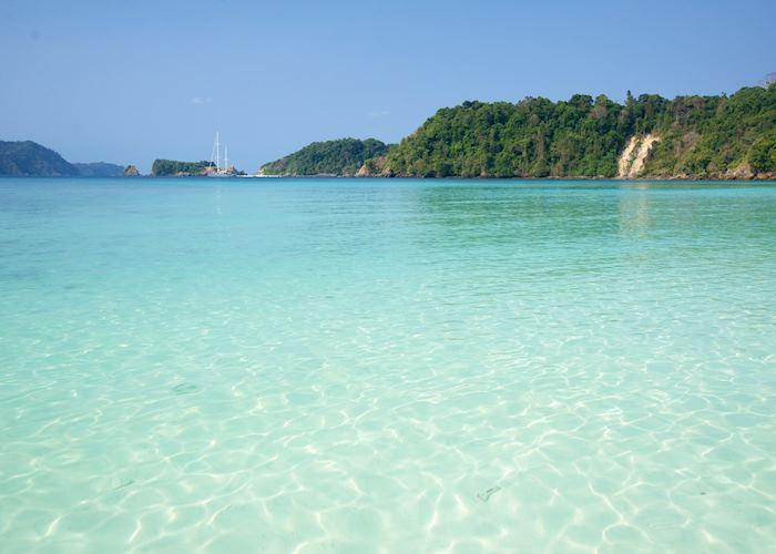 Azure water on the Mergui Archipelago