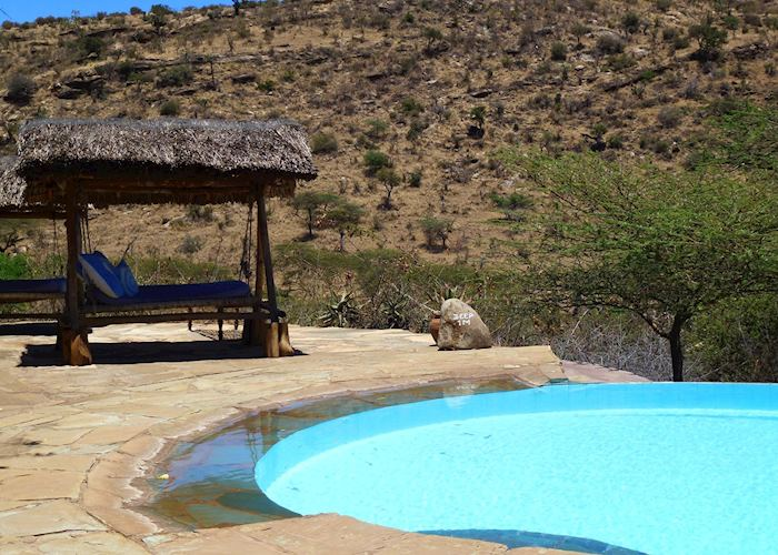 Pool and sun lounger, Lewa Wilderness